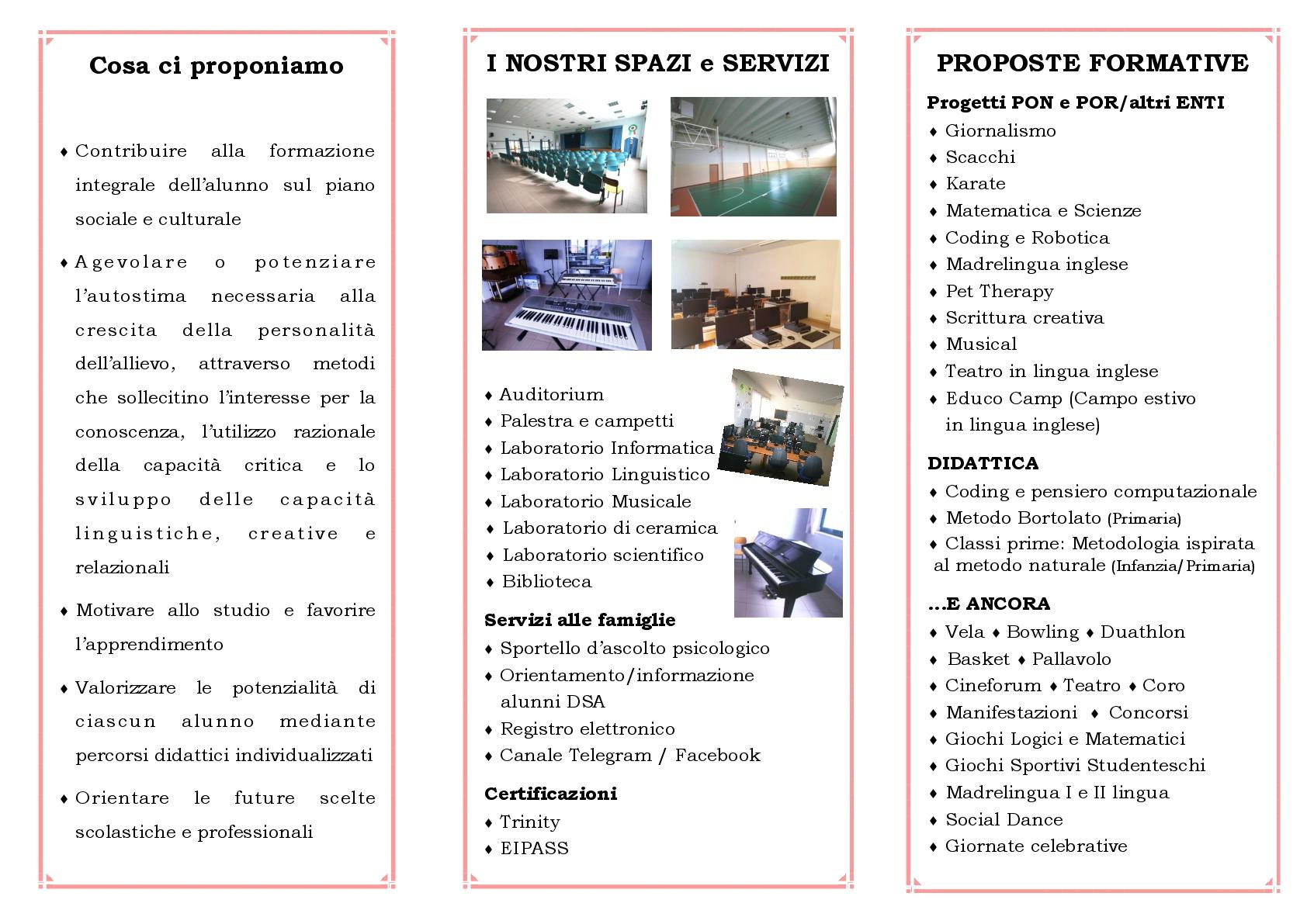 brochure iscrizioni A.S. 2018-19