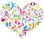 cuore note musicali