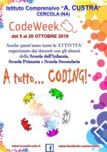 locandina Code Week 2019